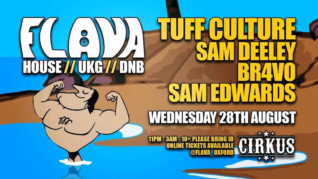 Flava presents     Tuff Culture + Support tickets on Wednesday 28 Aug |  Flava | FIXR